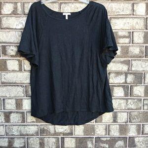 Joie 100% linen black top size large